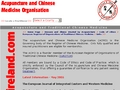 Acupuncture and  Chinese Medicine Organisation Ireland